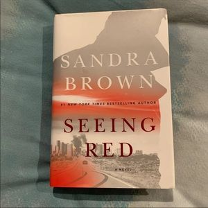 Sandra Brown Seeing Red hardcover book